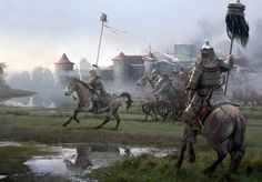 Mongol hordes at the Battle of Liegnitz