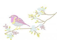 pipvogeltje | Vogels en Vleermuizen | glittermotifs