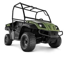 """Volunteer™ 4 x 2 Utility Vehicle  Utility Vehicle  Powerful, efficient 624cc V-Twin engine  1,400-lb. towing and payload capacity  Rugged 3"""" ladder-style steel frame"""