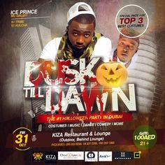 Friday 31st Oct! The Biggest Halloween Party In Dubai! Get your costumes ready! special prizes to be won for the 3 best Costumes! Party with @IcePrinceZamani & @RealMcGalaxy. For Vip table booking call: +971 (0) 43372265, +971 (0) 562638299 #Turnuplikenoother #turnup #kizadubai#halloween #dubai #africa #africanparty #oct31 #party#doroparty #kizaloungeandrestaurant #okokobioko#sekem #shoki