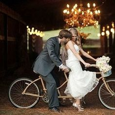 #tandem #wedding #vintage #rusticwedding #love #bike