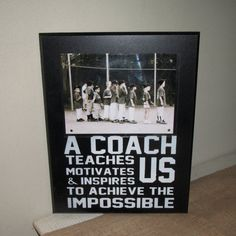 Coach Gift Coach Frame Sports Team Frame by WordsofWisdomNH, $28.00