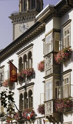 Romantik Hotel Post, a former city palais for princes of the region built in 1500 and one of the most beautiful examples of secular architecture in Villach today Carinthia, Heart Of Europe, Palaces, Alps, Austria, Castles, Switzerland, Poster, Tours