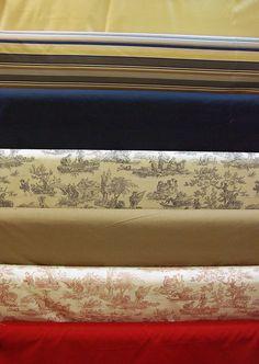 Grandes largeurs : toiles de jouy en 2m80 (coton), toile en 2m80 (coton et lin) et toile en 2m80 (polyester). Disponibles au rayon ameublement de votre magasin Ellen Décoration.