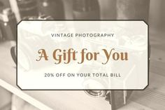 Tattoo Gift Card Template Brown Vintage Photography Certificate For Resignation Letter Singapore Gift Card Template, Gift Certificate Template, Gift Certificates, Photography Gifts, Vintage Photography, Online Gift Cards, Visa Gift Card, Gift Card Giveaway, Place Card Holders