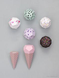 Paper Ice Cream Templates - Mr Printable