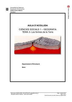 Generalitat de Catalunya Departament d'Ensenyament Institut Carles Vallbona Granollers AULA D'ACOLLIDA CIÈNCIES SOCIA...