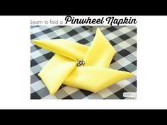 How to Fold Napkins Into Pinwheels - Atta Girl Says