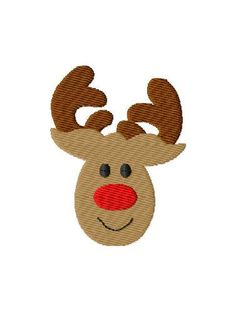 Rudolph Mini Machine Embroidery Design by SimplySweetEmbroider, $2.00