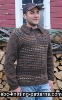 Mix 'n Match Stitch patterns, add a Henley opening, buttons and collar https://www.knititnow.com/knit/thebasics/13/2/details