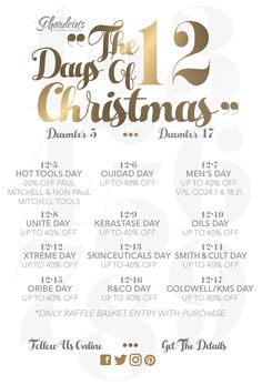 Celebrate with us! Our 12 Days of Christmas Sale starts tomorrow with 20% Off Hot Tools and an additional 20% Off Non Paul Mitchell Tools. Stop by out OKC salon and grab yours while supplies last during this 1-day only sale!