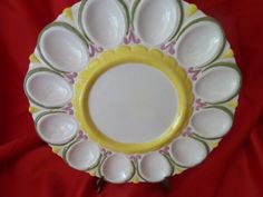 Delightful Deviled Egg Plate from the 60's. by RagstersVintage, $22.00