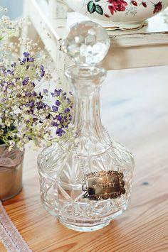 Beautiful vintage glass decanter tableware at Rosie Loves Vintage