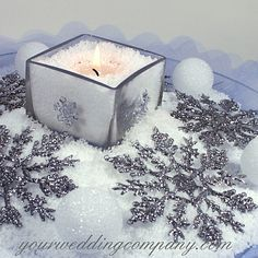 Snow inspired centrepieces