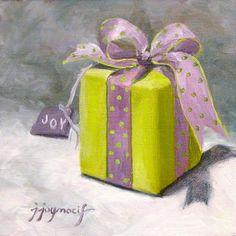 """The Gift of Joy"" original fine art by Judy Joy Nocifora"