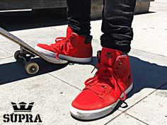 The Vaider is a stylishly designed high top upper on a vulcanized sole that supplies excellent traction and board feel. A padded collar and tongue lining provide superior comfort.  Visit the #Haustrom #onlinestore to order the #Supra #Vaider #skateshoes!  #Suprafootwear #SupraSkate #skatefootwear #skating #lifestyle #casual #footwear #OBS #Sneakers #Skatelife #Sportswear #Exhibition #mensshoes #skate #skateboarding #thankyouskateboarding #skatepark #skateallday #skateday #skategram…