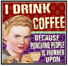 Funny Retro Coffee magnet coffee lovers will love.