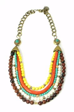 Handcrafted Multi Gemstone Layer Tribal Chic Necklace by IsabellaRaeJewelry, $74.00
