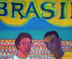 """""""Brasil Argentina VI"""", acrílico sobre lienzo, 60 x 95 cm. , 2016. by Diego Manuel"""