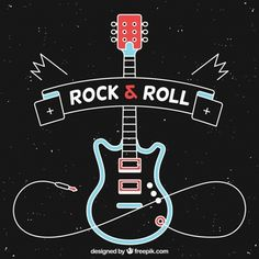 Design Plat, Rock Design, Rock Posters, Rock And Roll Bands, Rock N Roll, Sushi Rock, Festa Rock Roll, Rock Vintage, Guitar Posters