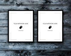 11x14 Set of 2 FRAME MOCKUP BLACK / Styled von MockupShop auf Etsy