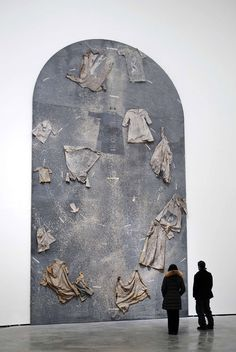 """""""Die Ordnung der Engel"""" (""""The Hierarchy of the Angels""""; by Anselm Kiefer. Oil, emulsion, shellac, and linen clothes on canvas. Here on display at the Guggenheim Museum Bilbao. Anselm Kiefer, Art Sculpture, Sculptures, Guggenheim Museum Bilbao, Modern Art, Contemporary Art, Blog Art, Instalation Art, Art Moderne"""