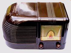 Meck Deco Bakelite radio pristine working restoration obscure 5 tube c-1950!!