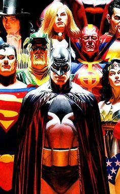 comics justice dc comics justice league Alex Ross
