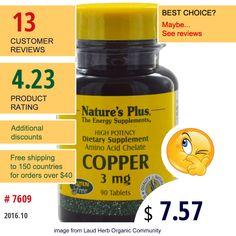 Natures Plus #Minerals #Copper