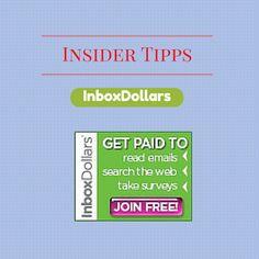 USA billig aber gut leben: Insidertipps Inboxdollars  Insidertipps fuer Inboxdollars Mit Inboxdollars kannst du weltweit einfach online Geld (wird per Scheck gesendet) machen. Hier findest du einige Tipps fuer einfache Methoden.