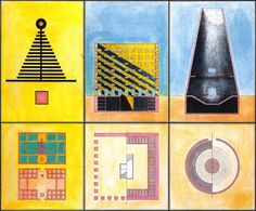 Aldo Rossi, Drawings for Modena Cemetery