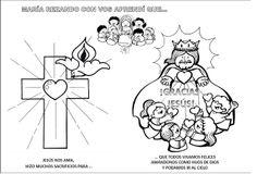 La Catequesis: Recursos Catequesis Santo Rosario para Colorear