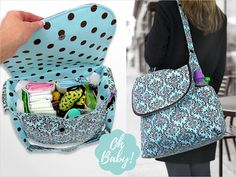 Big & Beautiful Diaper Bag Free Pattern and Tutorial and Video Tutorial. Sew4Home