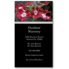 Floral Business Card #BusinessCard