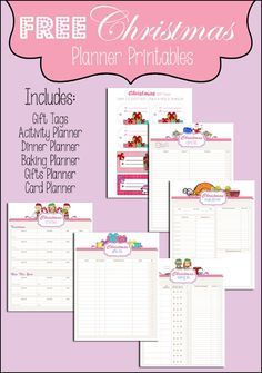 Get Organized w/Free Christmas Planner Printables. Includes gift tags, dinner planner, gifts planner, card planner and more! Dinner Planner, To Do Planner, Free Planner, Planner Pages, Happy Planner, Printable Planner, Planner Ideas, 2015 Planner, Blog Planner