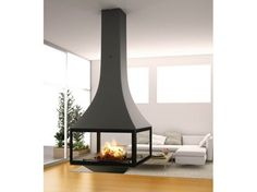JULIETTA 985 Hanging fireplace by JC Bordelet Industries design Jean Claude Bordelet Hanging Fireplace, Home Fireplace, Modern Fireplace, Fireplace Design, Floating Fireplace, Stoves For Sale, Freestanding Fireplace, Craftsman Style House Plans, Wood Burner