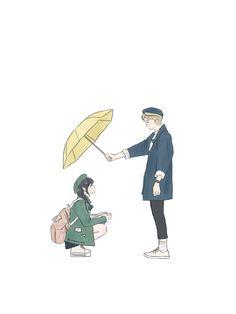 壁紙 - CHXRRY.PIE Cute Couple Drawings, Cute Couple Art, Anime Love Couple, Cute Anime Couples, Cute Drawings, Couple Illustration, Illustration Art, Cute Couple Wallpaper, Animated Love Images
