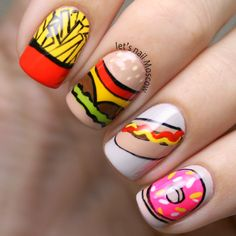 let's nail Moscow:  fast food #nail #nails #nailart