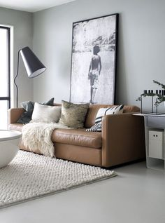 Modern Looks for Leather Sofas | Centsational Style