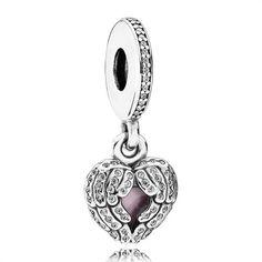 Herz-Dangle Pandora aufklappbar 925er Silber 791737CZ http://www.thejewellershop.com/ #pandora #charm #silber
