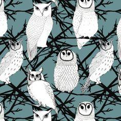 Owls by Marina Molares Pinned by www.myowlbarn.com