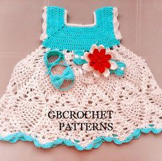 Another cute and lovely baby dress for you to make, detailed and step by step...watch out for the set pattern to be released very soon