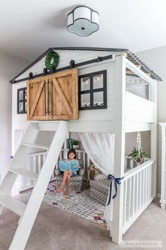 46 Fabulous Kids Bunk Beds Design Ideas That You Need To Try - Parents love buying bunk beds for their kids if they are sharing a room. The stacked beds are ideal for bedroom with small space. Bunk beds have been . Bedroom Storage Ideas For Clothes, Bedroom Storage For Small Rooms, Bedroom Organization, Bedroom Small, Toddler Bunk Beds, Kid Beds, Warm Bedroom, Bedroom Decor, Bedroom Ideas