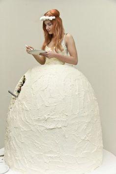 A cake wedding dress...food or fashion?