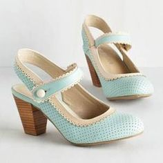 wedding shoes blue vintage mary jane - Google Search