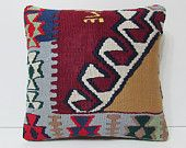 red pillow burgundy pillow case floor pillow cover large sofa pillows ethnic throw pillow contemporary cushion red kilim pillow sham 18062