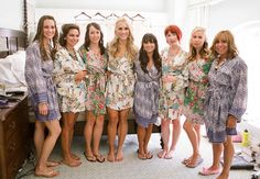 """Get robes for bridesmaids that show a bit of their personality.  These will make for some super cute """"getting ready"""" shots."""