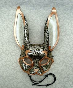 Venetian Rabbit Mask ...  handmade leather rabbit mask.   For an upscale halloween mask