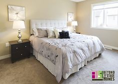 #BTSH Staged Master Bedroom #Staging
