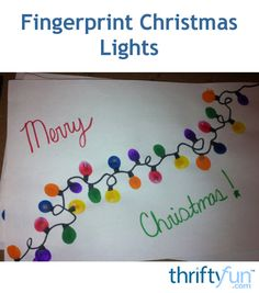 This craft is simple, easy, and fun for kids and adults of all ages! You can create these lights for handmade Christmas cards, gift tags, T-shirts, or in the classroom. You can paint them on cardstock and place in a frame or use a canvas. They would make excellent gifts for parents, grandparents, or teachers.